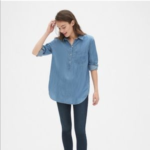 GAP Boyfriend Popover Shirt in TENCEL